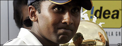 Sri Lanka captain Mahela Jayawardene after their victorious Test series