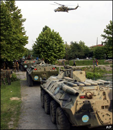 Russian troops in Abkhazia, 11/08