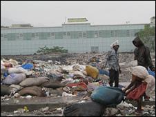 A garbage dump in Deonar, Mumbai