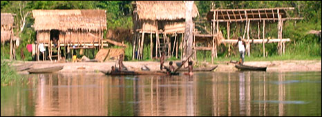 Dug out canoes on the River Congo