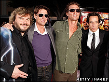 The film's stars, Jack Black, Tom Cruise,  Matthew McConaughey and Stiller were at the premiere