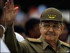 Cuban president Raul Castro in Santiago de Cuba (file photo)