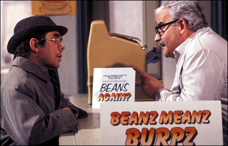 Ronnie Corbett and Ronnie Barker in their first series in 1971