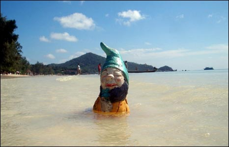 Murphy bathing off the coast of Thailand: Photo courtesy of PA