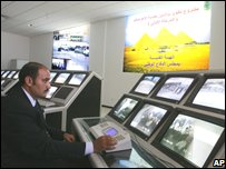 Control room at Giza, 11 August, 2008.