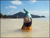 Murphy the gnome in Thailand: Photo courtesy of PA Wires
