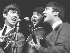 George Harrison, Paul McCartney and John Lennon