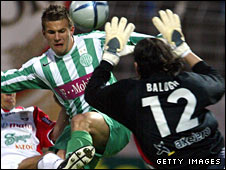 Janos Balogh in action for Sopron