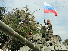 Russian troops in Tskhinvali (12/08/2008)