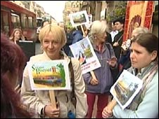 Boatyard protest