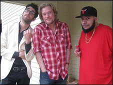 Chromeo with Daryl Hall (centre)