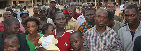People displaced from Bakassi