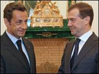 ساركوزي وميدفيدف