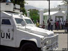 A UN truck