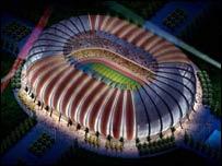 An artist's impression of the new Luanda stadium in Angola
