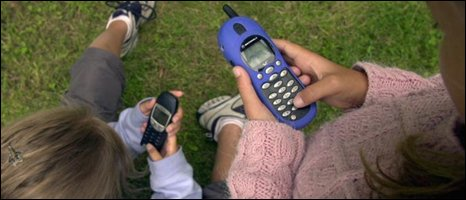 Children using mobiles, BBC