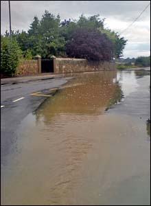 Floods on the A914