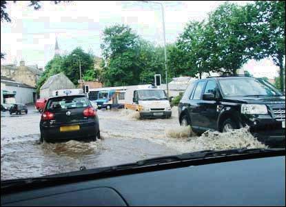 Flooding in Cupar