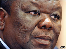 Zimbabwe's opposition leader Morgan Tsvangirai. File photo