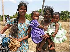 Displaced Tamil women
