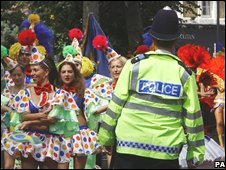 A policeman at the Notting Hill Carnival