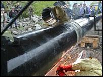Газопровод на границе Северной Осетии и Южной