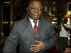 Morgan Tsvangirai in Harare, 10 August 2008