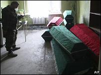 Гробы в Цхинвали
