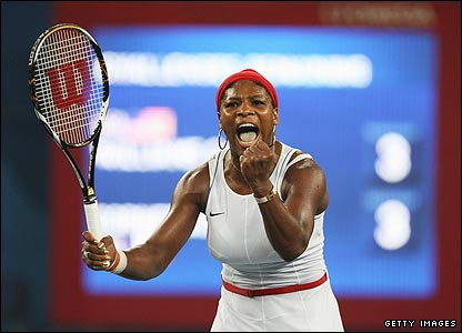 Serena Williams battles back to complete a 3-6 6-3 6-4 victory over Alize Cornet