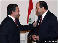 King Abdullah meets Nouri Maliki