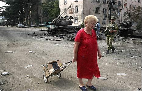 Street scene in Tskhinvali