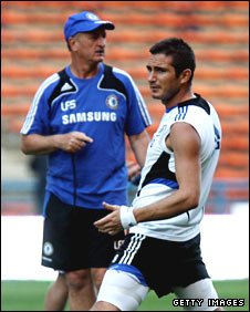 Luiz Felipe Scolari and Frank Lampard