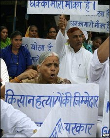 Farmers protest against the World Trade Organisation in India