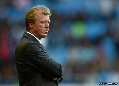 Steve McClaren takes charge of his new side against Arsenal