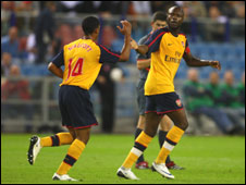 William Gallas celebrates his opening goal