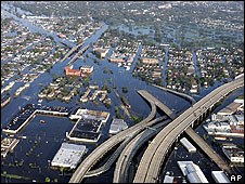 New Orleans under water, 30 August 2005