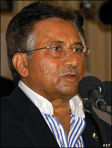 President Musharraf addressing the nation on 13 August 2008