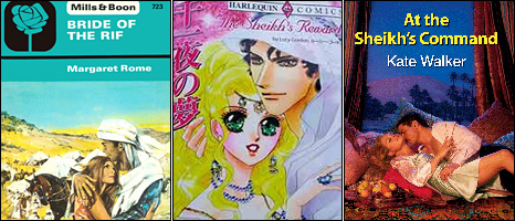 Mills and Boon Cover art: Bride of the Rif, The Sheikh's Reward and  At the Sheikh's Command
