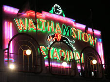 The famous Walthamstow Stadium sign is Grade II listed
