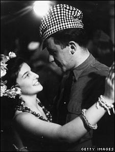 British woman dancing with an American GI in 1942
