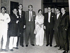 A photo of Mrs Jafri with some top government leaders after her second wedding in West Pakistan, 1960.