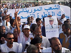 March in support of Mauritania's coup, 11 August 2008