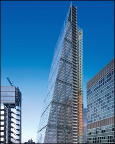 An artist's impression of the 'Cheesegrater'