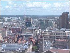 Birmingham, UK, skyline