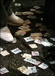 Used betting slips. Photo Clark Ainsworth
