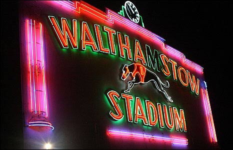 Walthamstow Stadium sign. Photo Clark Ainsworth