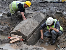 Sarcophagi discovered in Newcastle