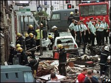 Omagh bombing scene