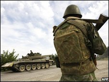 Russian soldier in Gori, 14 August 2008