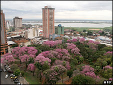 View of Paraguay's capital, Asuncion